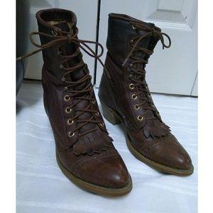 Vintage Capezio roper ankle boots